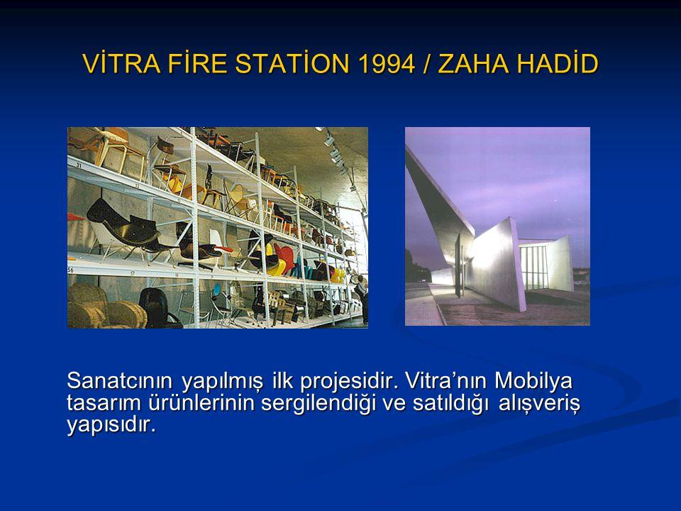 VİTRA FİRE STATİON 1994 / ZAHA HADİD
