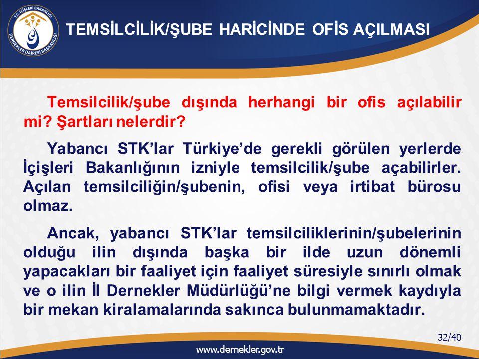 TEMSİLCİLİK/ŞUBE HARİCİNDE OFİS AÇILMASI