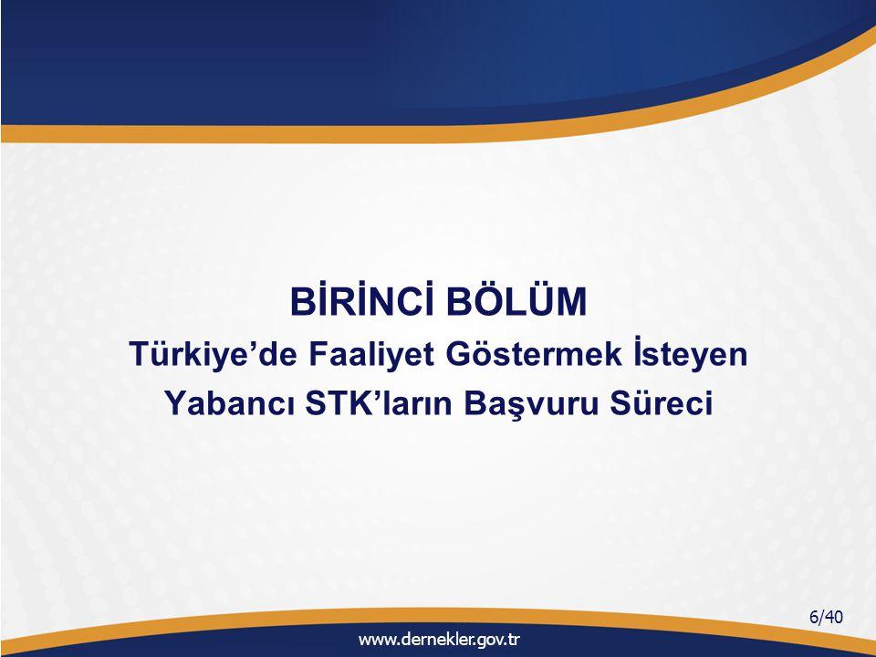 Türkiye'de Faaliyet Göstermek İsteyen Yabancı STK'ların Başvuru Süreci