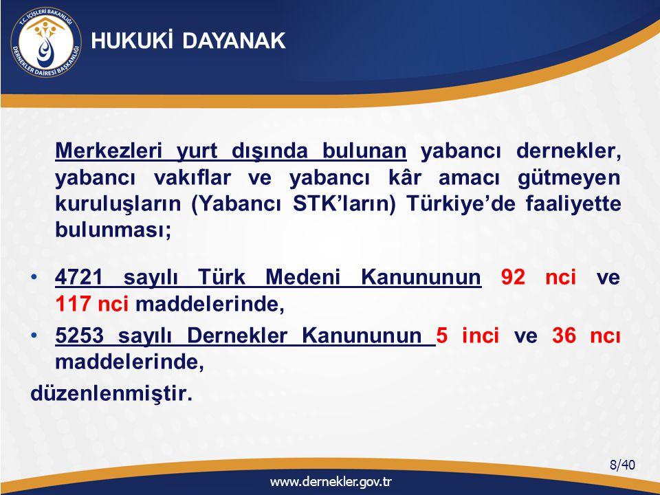 4721 sayılı Türk Medeni Kanununun 92 nci ve 117 nci maddelerinde,