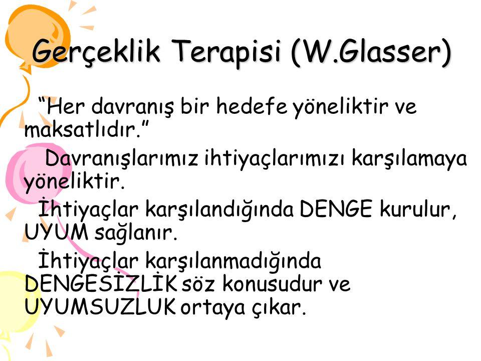 Gerçeklik Terapisi (W.Glasser)