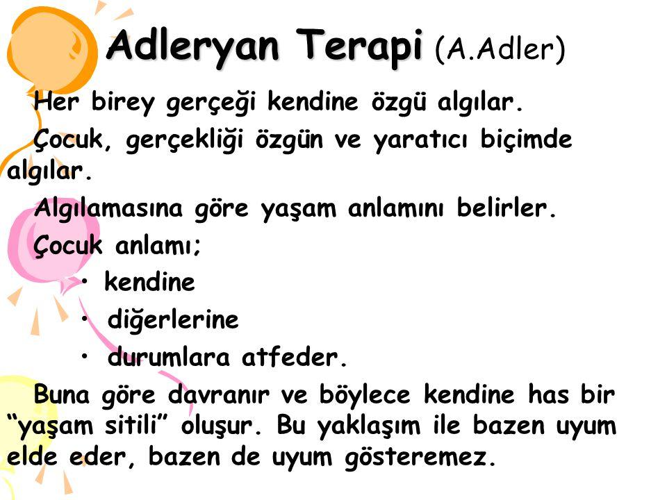 Adleryan Terapi (A.Adler)