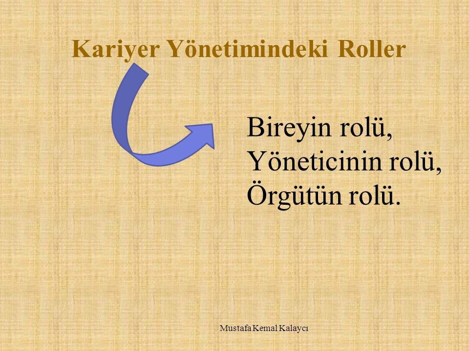 Kariyer Yönetimindeki Roller