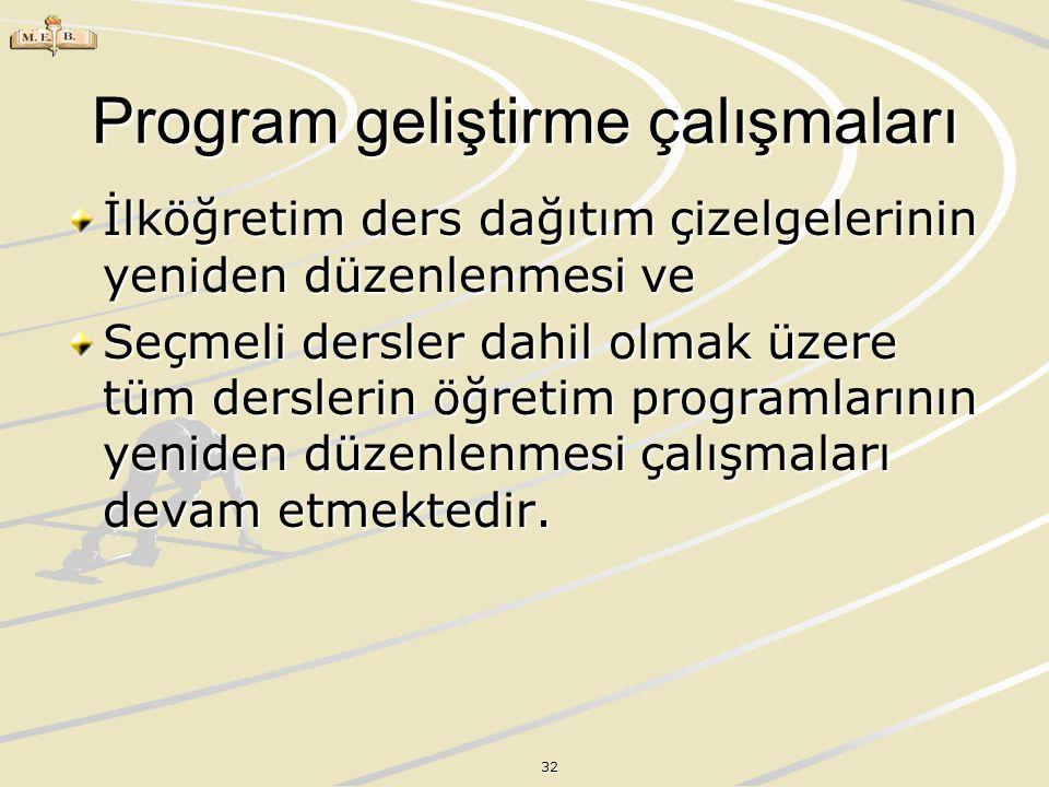 Program geliştirme çalışmaları