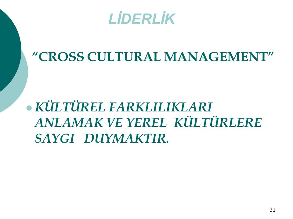 LİDERLİK CROSS CULTURAL MANAGEMENT