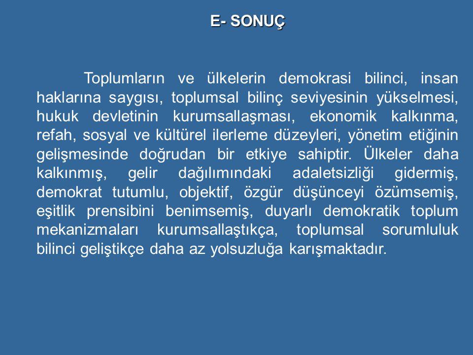 E- SONUÇ