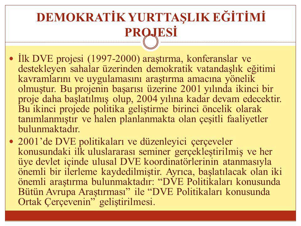 DEMOKRATİK YURTTAŞLIK EĞİTİMİ PROJESİ