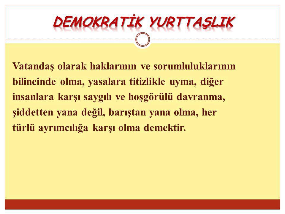 DEMOKRATİK YURTTAŞLIK