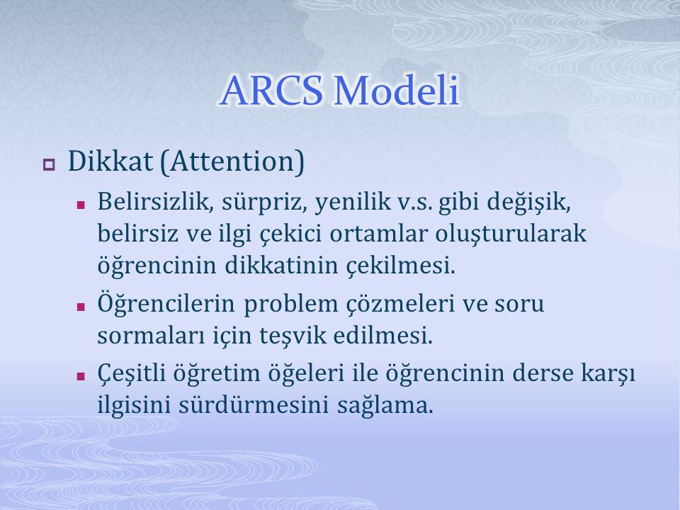 ARCS Modeli Dikkat (Attention)