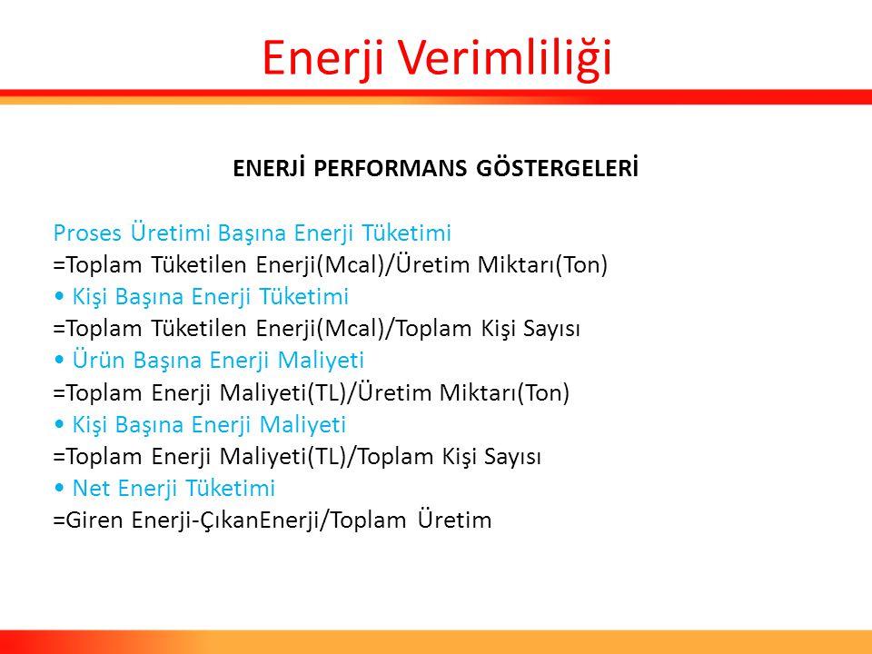 ENERJİ PERFORMANS GÖSTERGELERİ