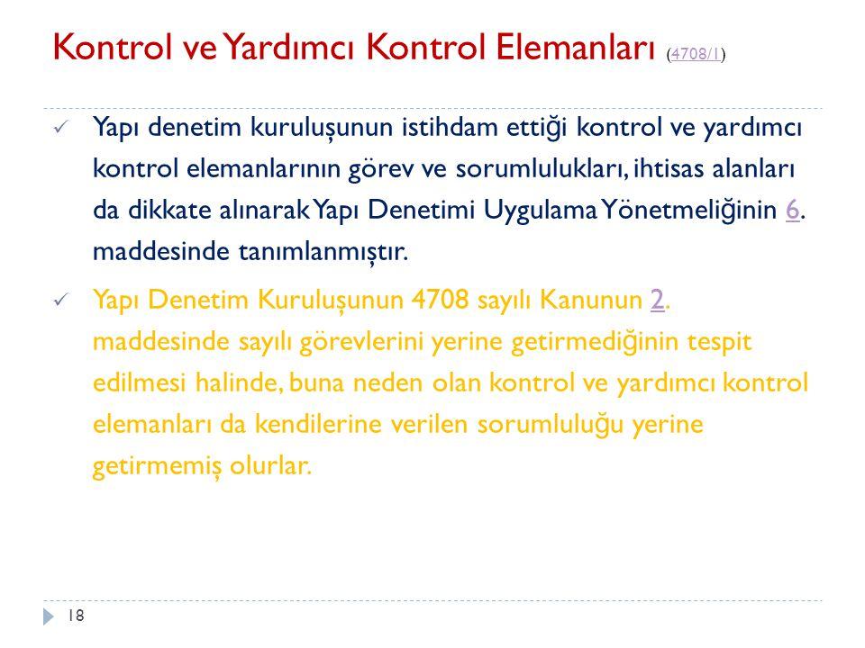 Kontrol ve Yardımcı Kontrol Elemanları (4708/1)