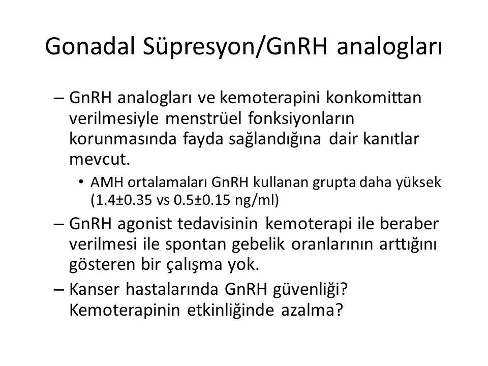 Gonadal Süpresyon/GnRH analogları