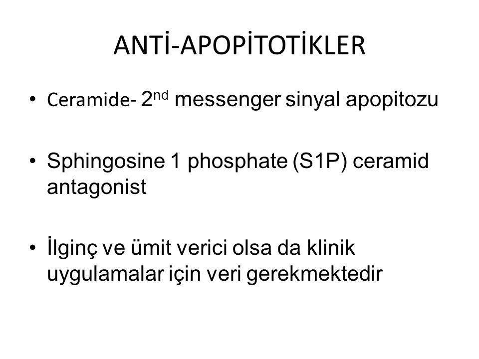ANTİ-APOPİTOTİKLER Ceramide- 2nd messenger sinyal apopitozu