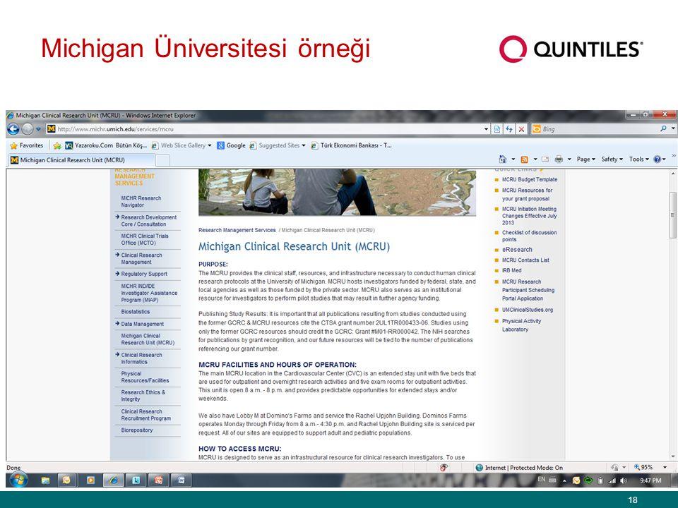 Michigan Üniversitesi örneği