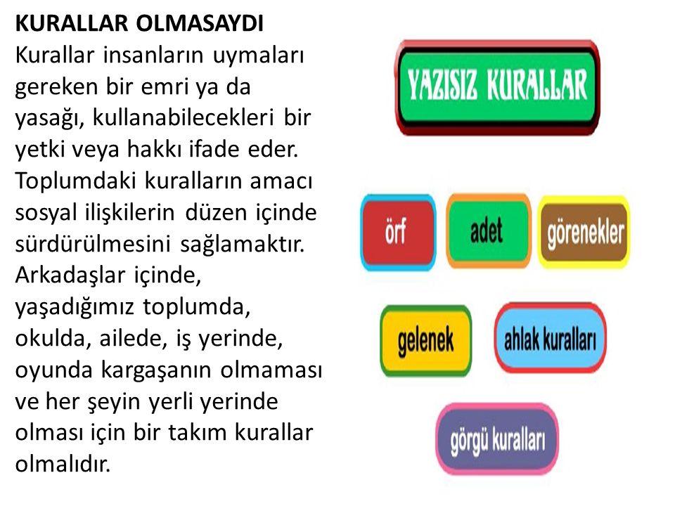 KURALLAR OLMASAYDI