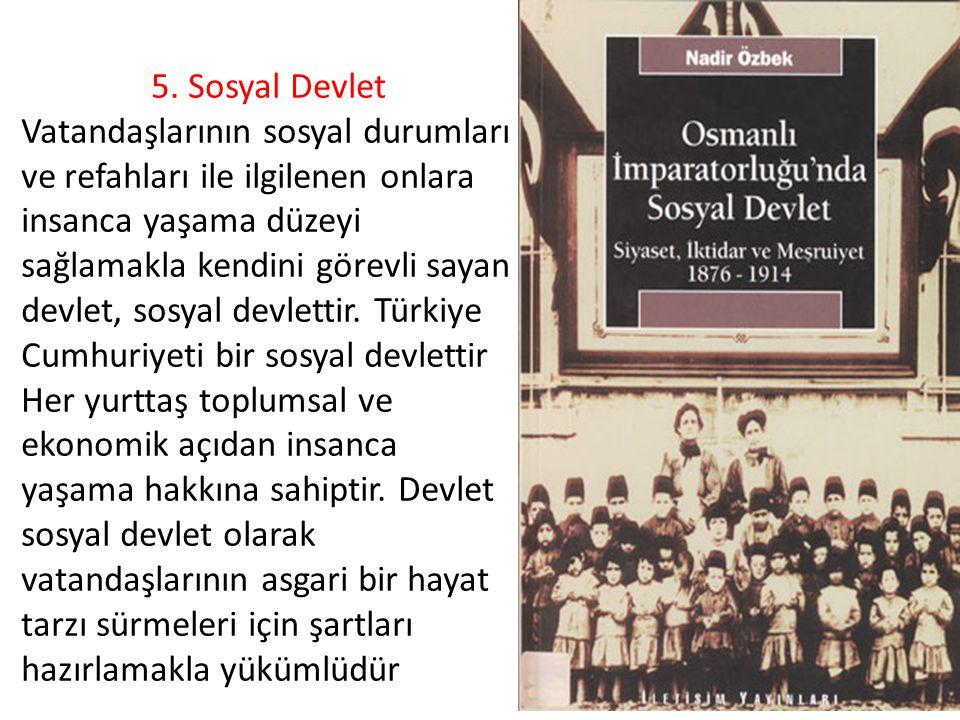 5. Sosyal Devlet