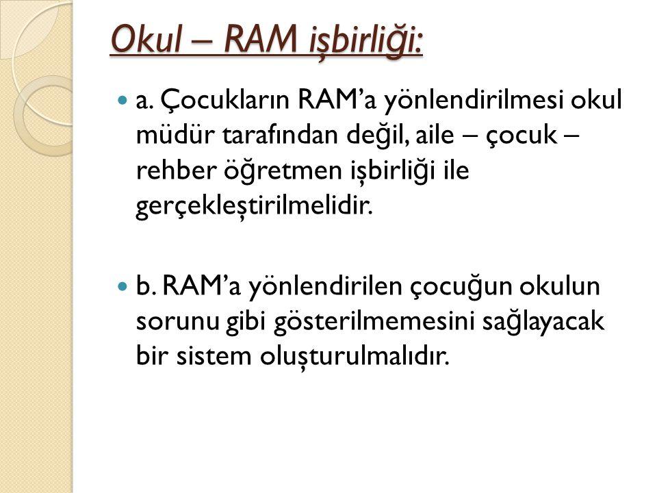 Okul – RAM işbirliği: