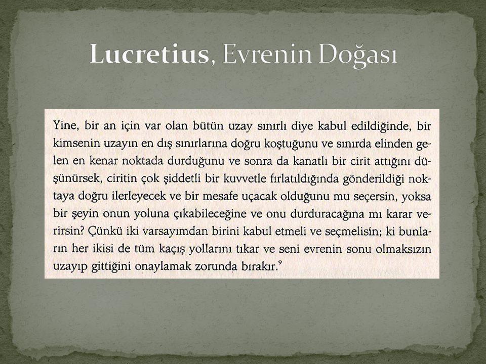 Lucretius, Evrenin Doğası