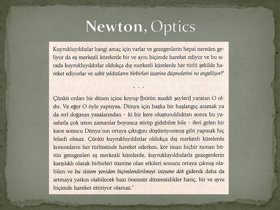 Newton, Optics
