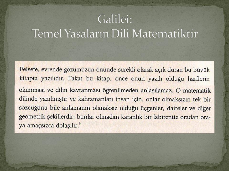 Galilei: Temel Yasaların Dili Matematiktir