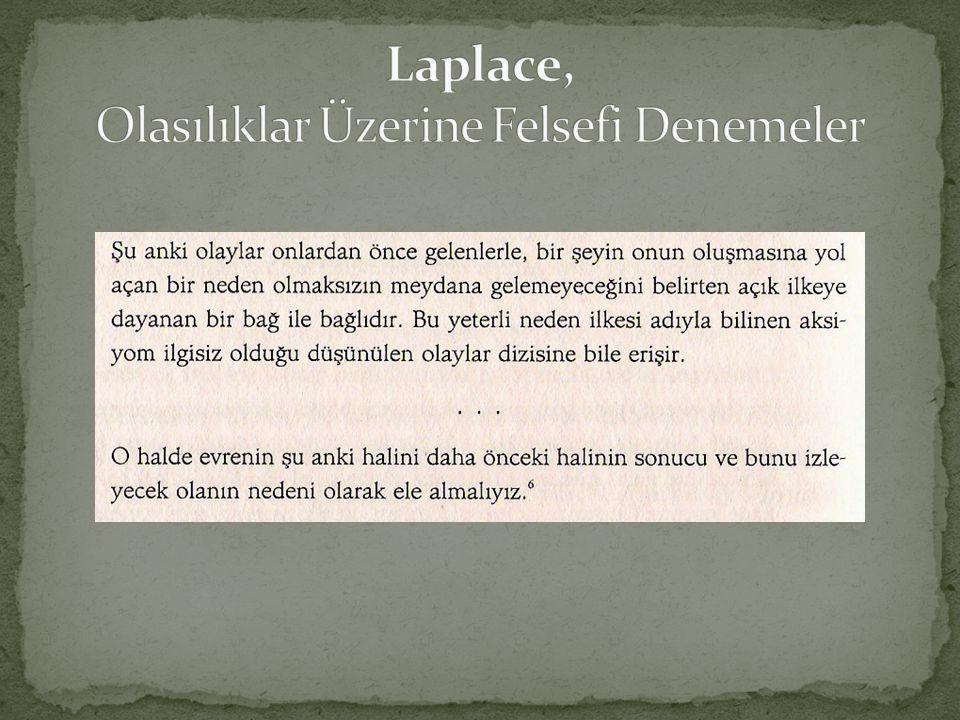 Laplace, Olasılıklar Üzerine Felsefi Denemeler