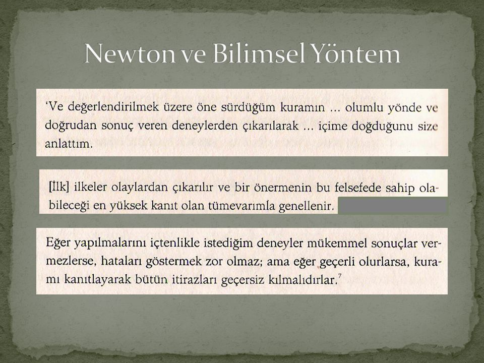 Newton ve Bilimsel Yöntem