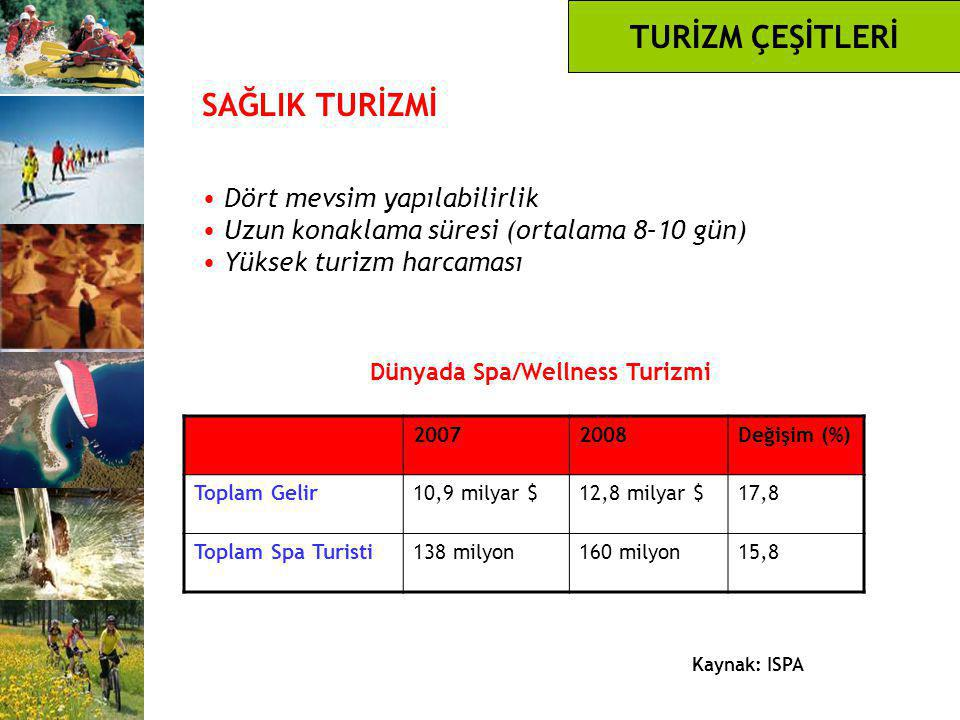 Dünyada Spa/Wellness Turizmi
