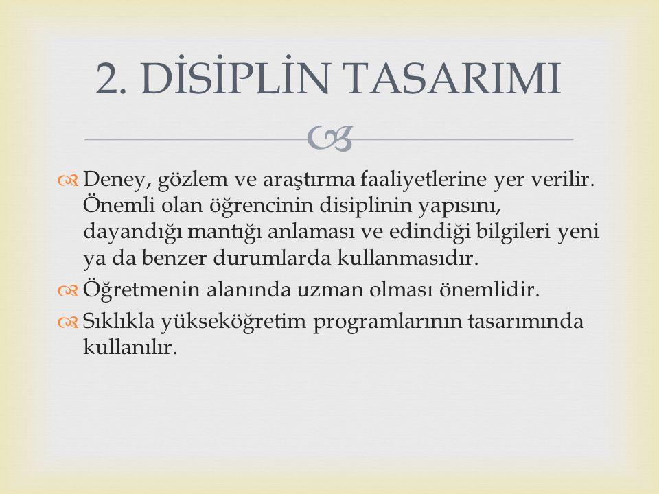 2. DİSİPLİN TASARIMI