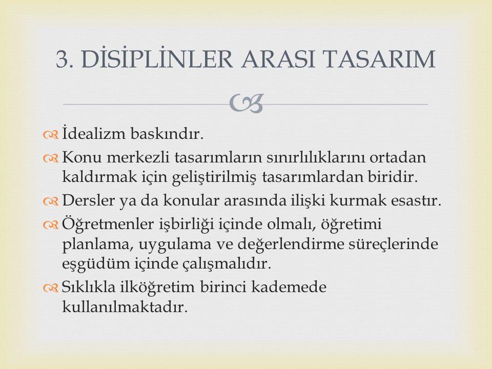 3. DİSİPLİNLER ARASI TASARIM