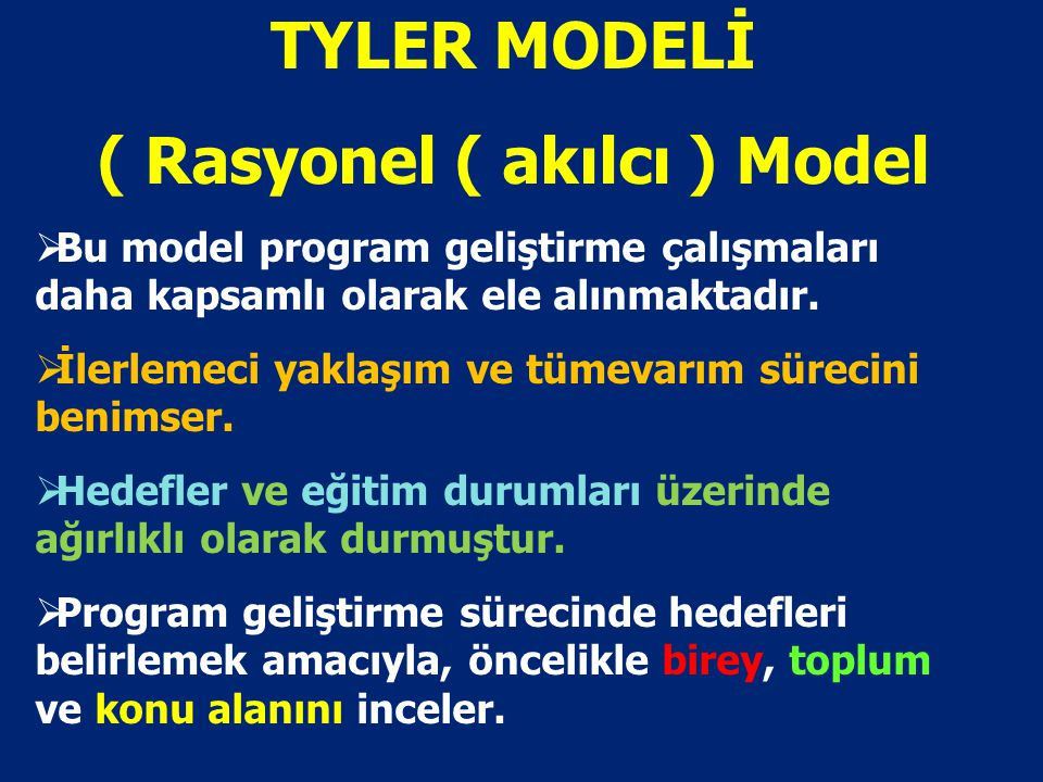 ( Rasyonel ( akılcı ) Model