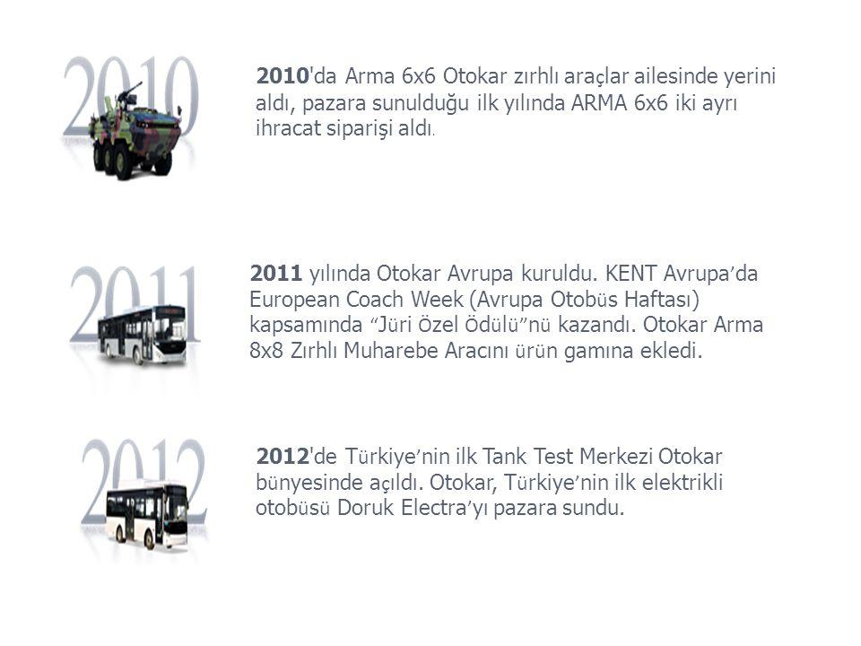 2010 da Arma 6x6 Otokar zırhlı araçlar ailesinde yerini aldı, pazara sunulduğu ilk yılında ARMA 6x6 iki ayrı ihracat siparişi aldı.