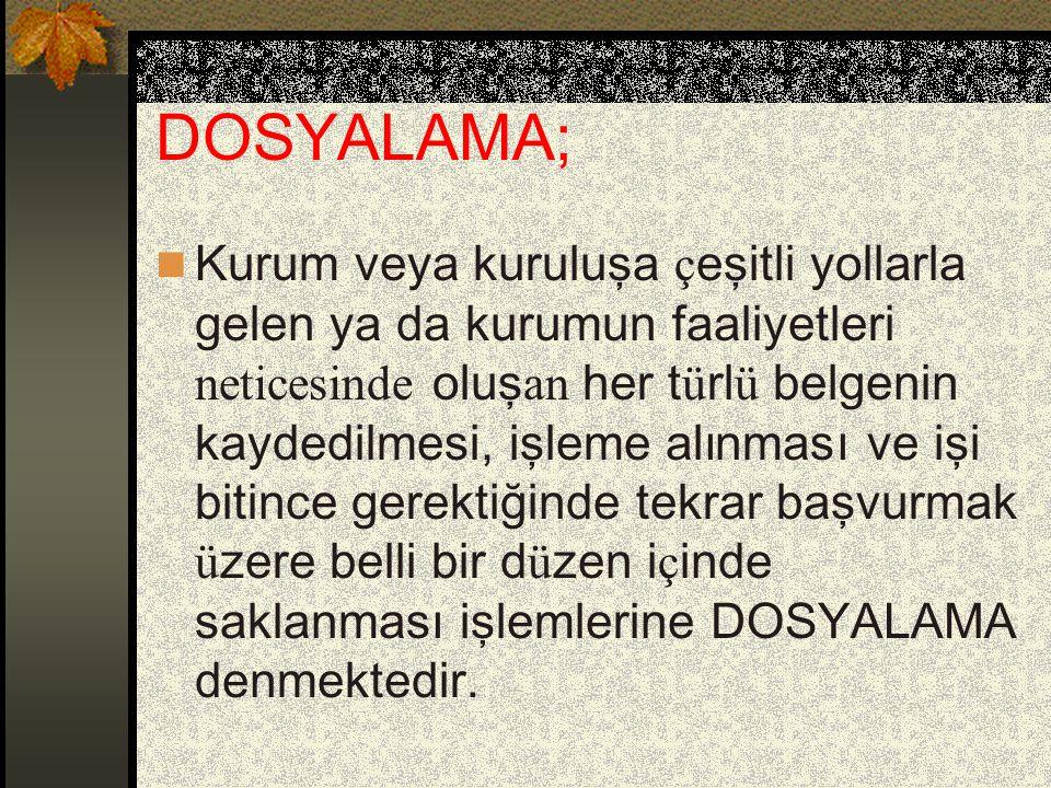 DOSYALAMA;
