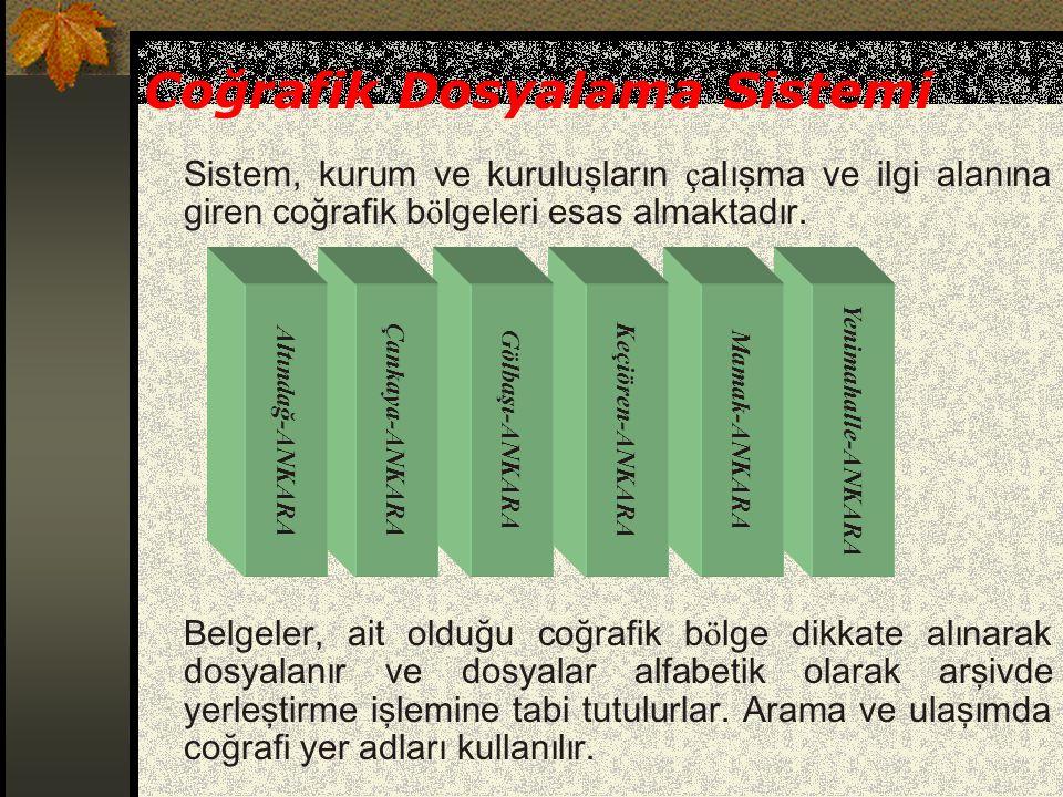 Coğrafik Dosyalama Sistemi