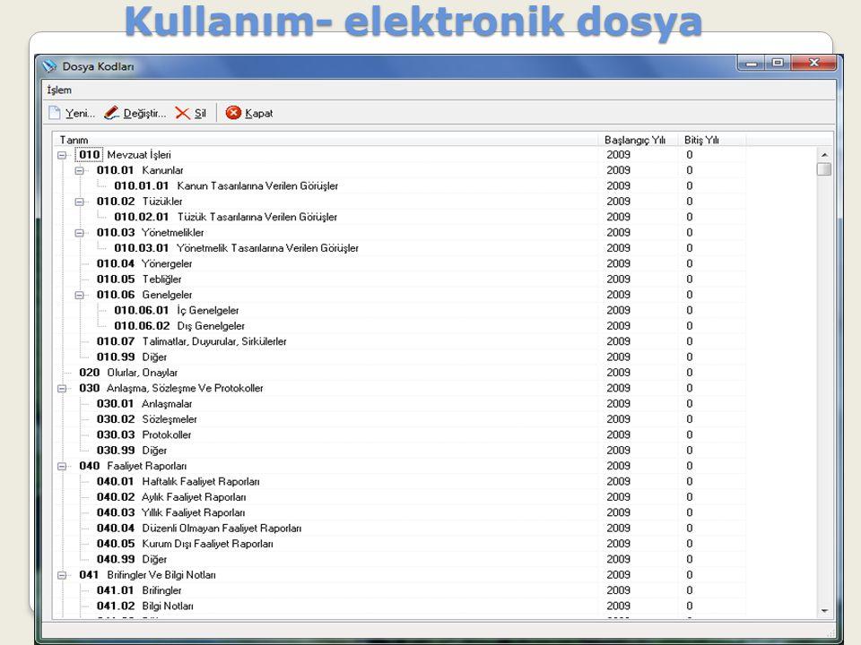 Kullanım- elektronik dosya