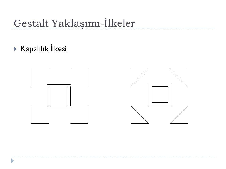 Gestalt Yaklaşımı-İlkeler