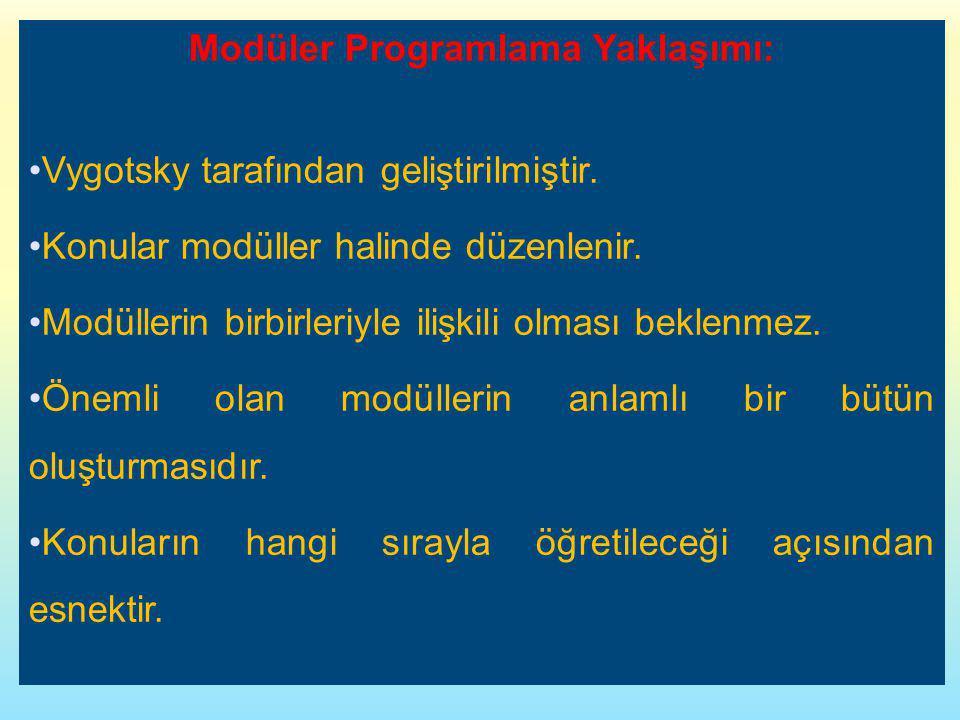 Modüler Programlama Yaklaşımı: