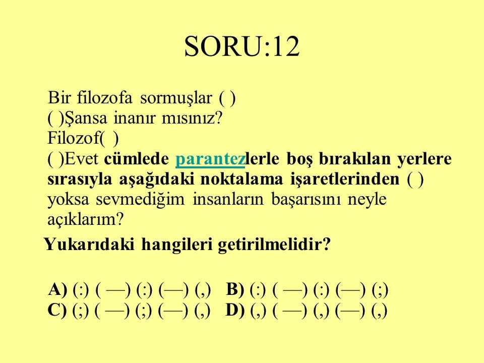 SORU:12