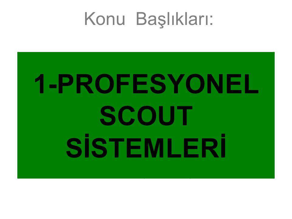1-PROFESYONEL SCOUT SİSTEMLERİ
