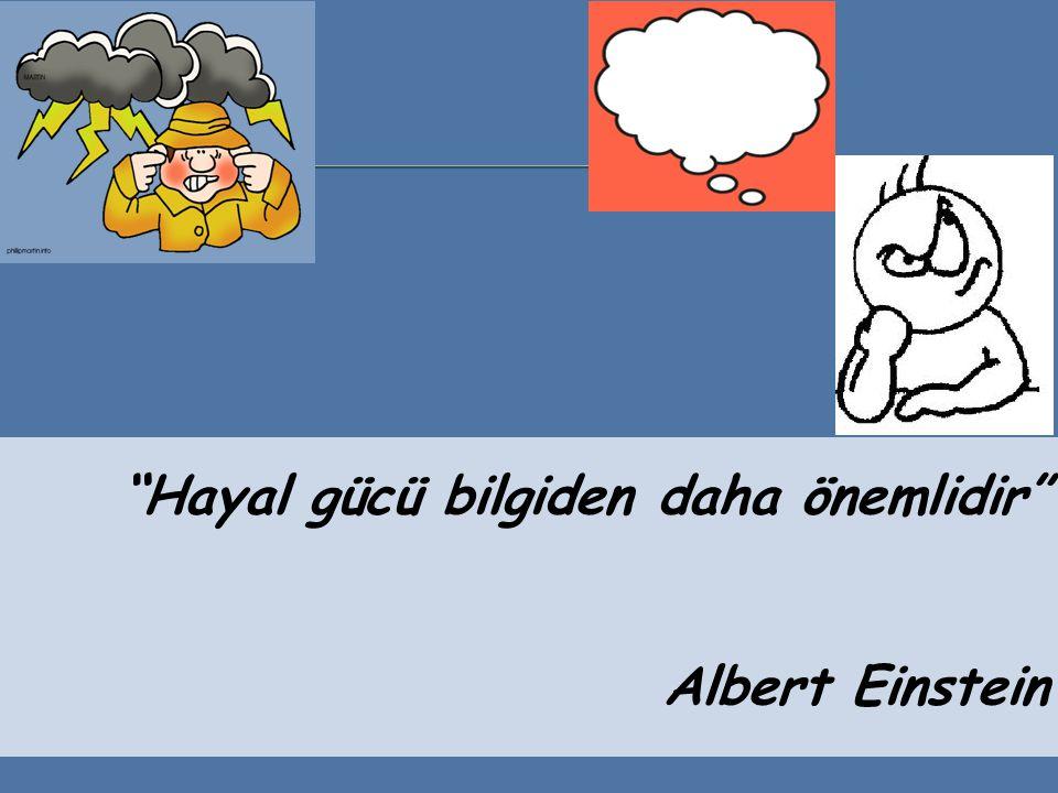 Hayal gücü bilgiden daha önemlidir Albert Einstein