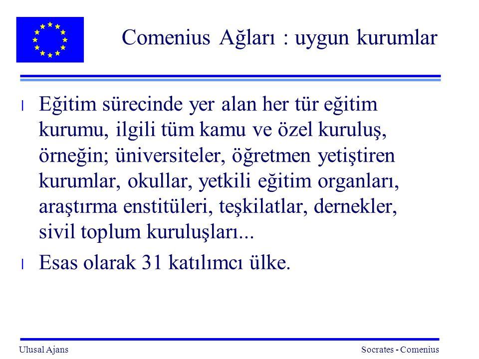 Comenius Ağları : uygun kurumlar