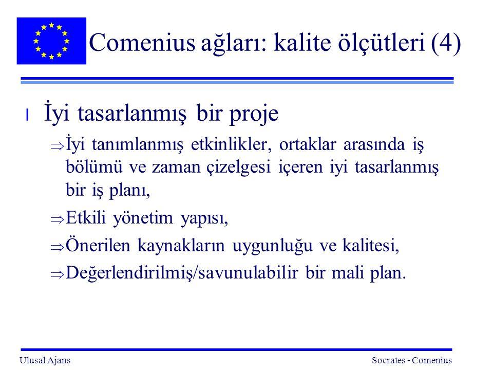 Comenius ağları: kalite ölçütleri (4)