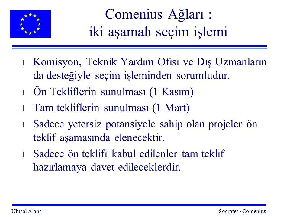 Comenius Ağları : iki aşamalı seçim işlemi
