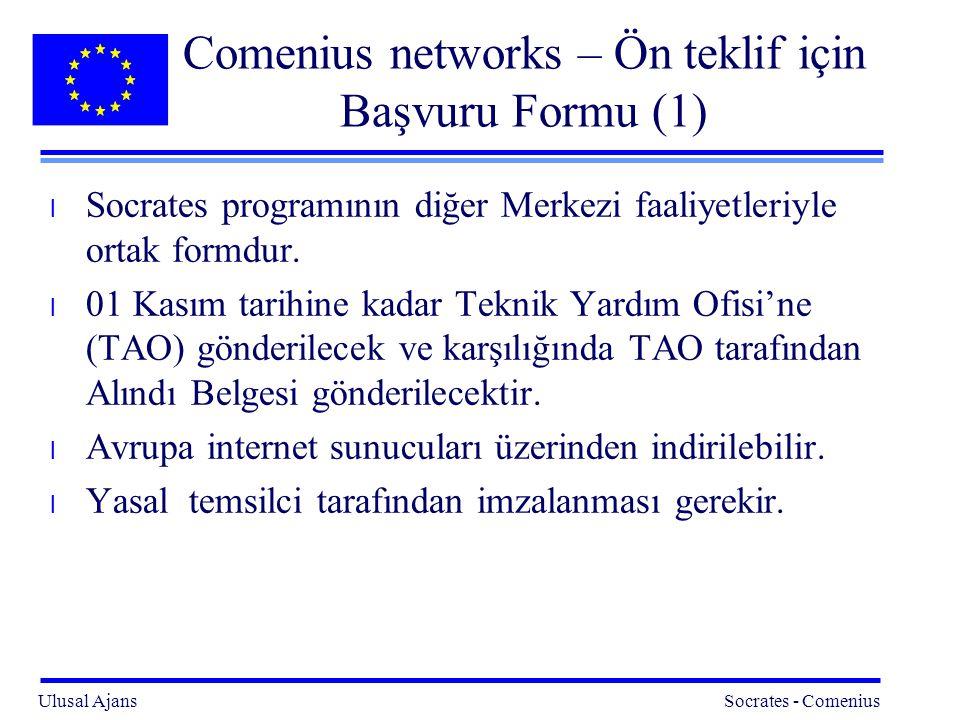 Comenius networks – Ön teklif için Başvuru Formu (1)