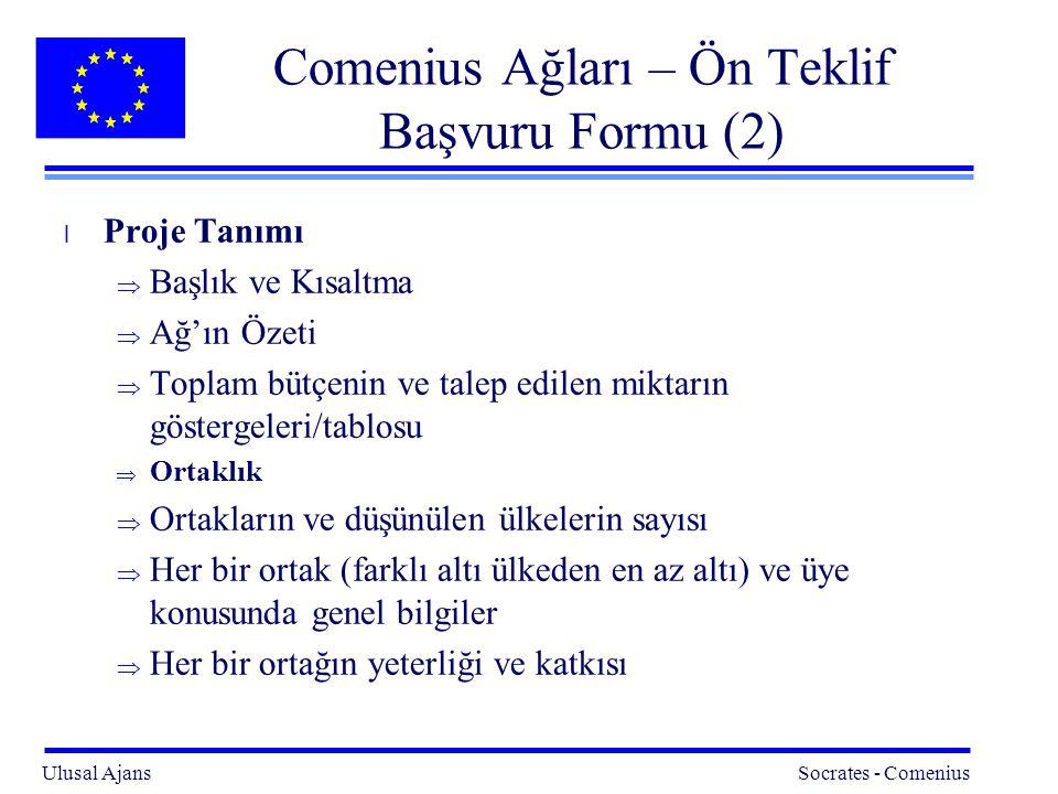 Comenius Ağları – Ön Teklif Başvuru Formu (2)