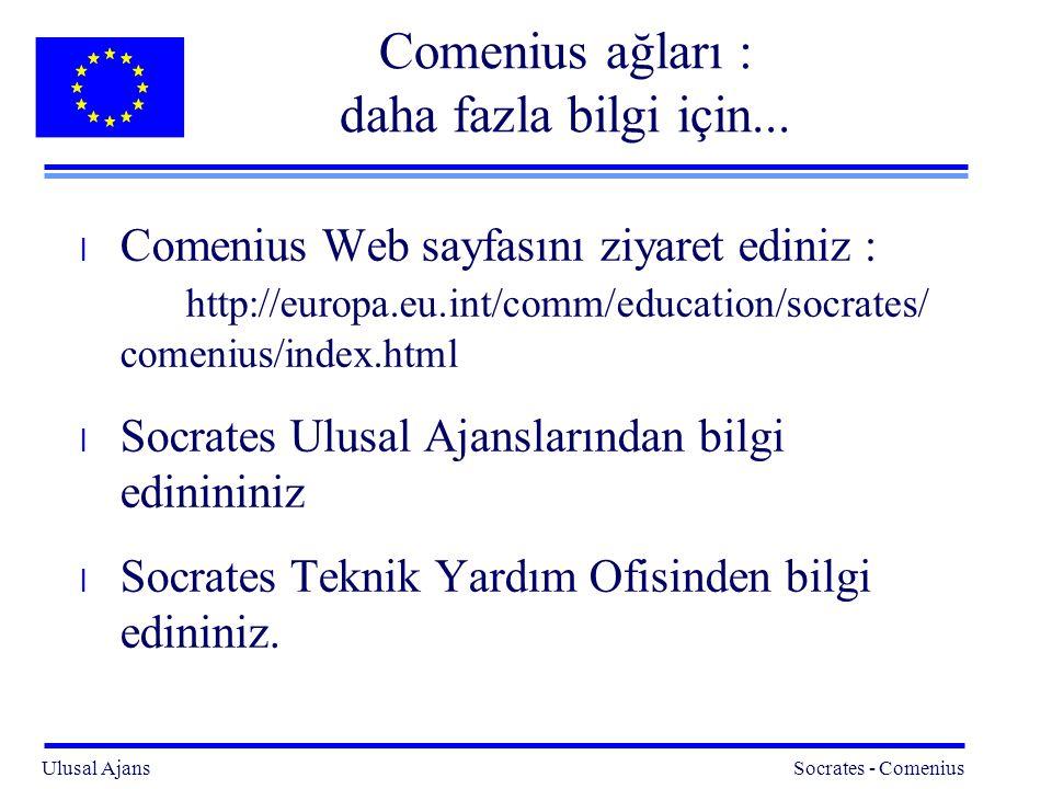 Comenius ağları : daha fazla bilgi için...