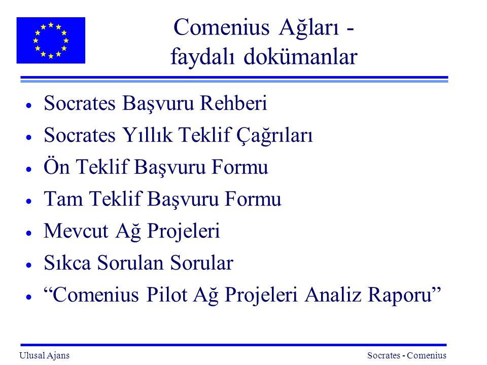 Comenius Ağları - faydalı dokümanlar