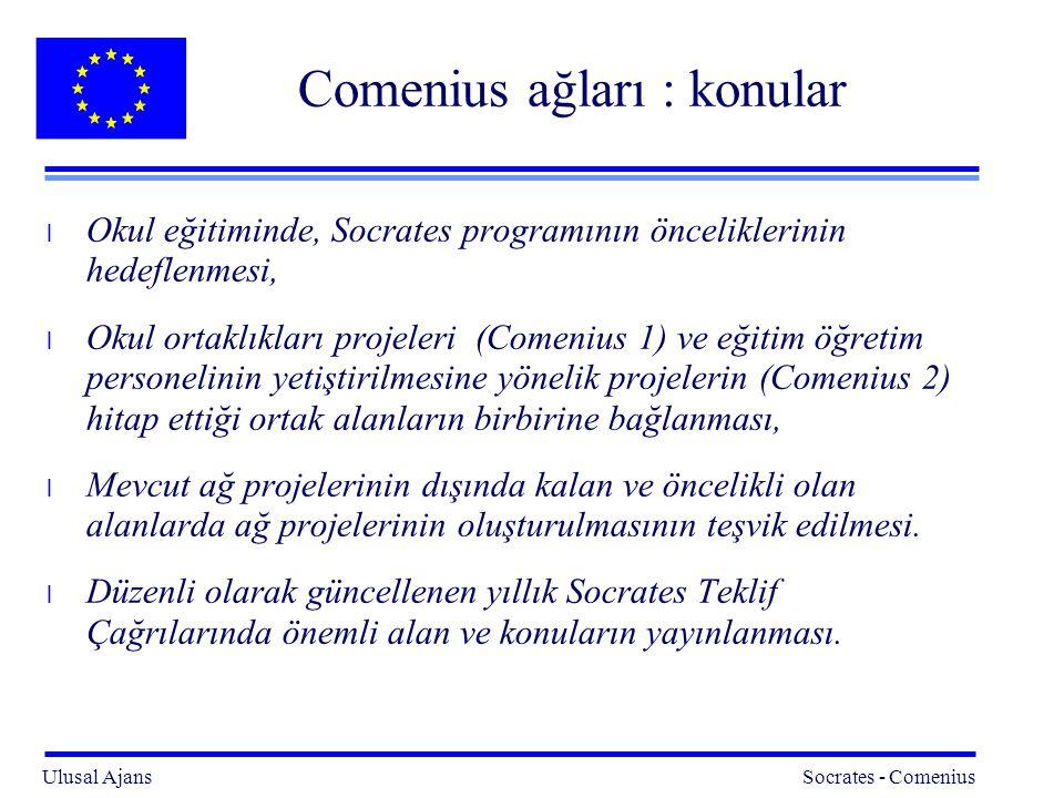 Comenius ağları : konular