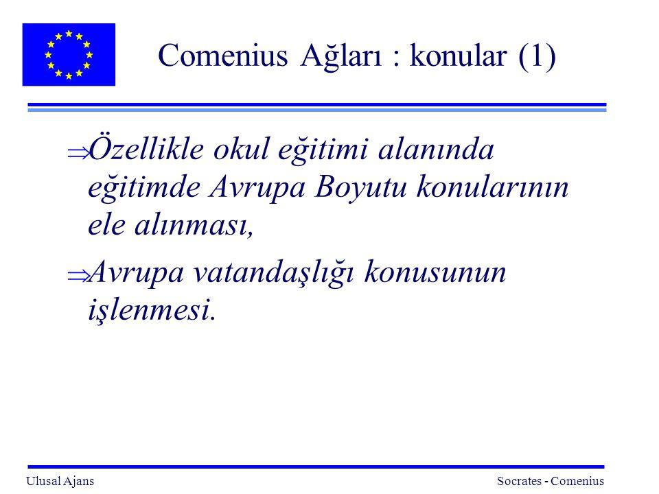 Comenius Ağları : konular (1)