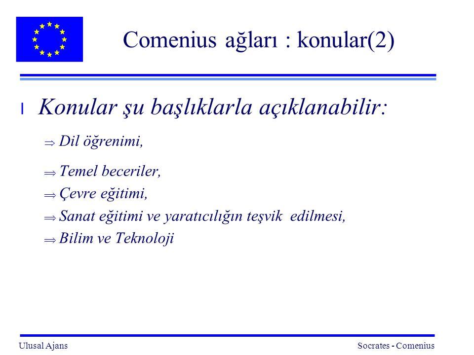 Comenius ağları : konular(2)