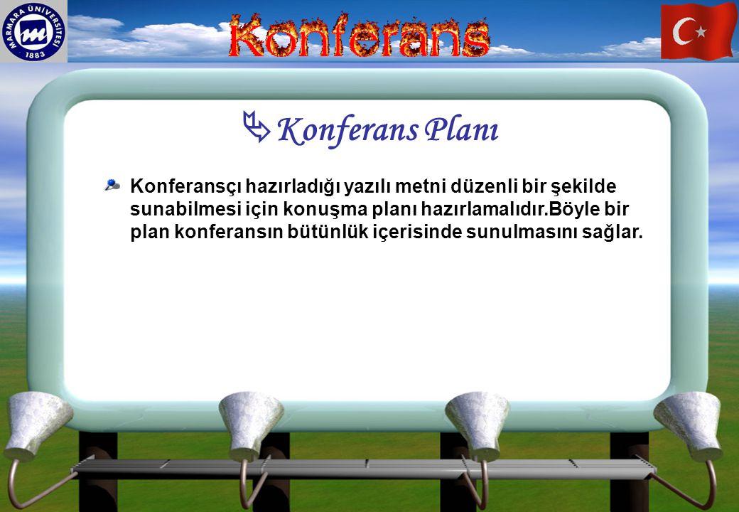 Konferans Planı